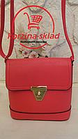 Женская сумка клатч через плечо (коралловый цвет)