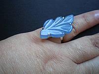 Авторские серебряные кольца с халцедона Сапфирина.