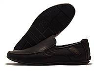 Туфли детские для мальчика Kimbo-o черные с коричневой строчкой 32-36р.