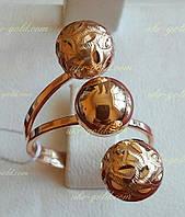 Золотое кольцо с шариками