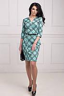 Элегантное молодежное платье из трикотажа с бархатным напылением