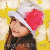 Панамка для девочки с объемным цветком