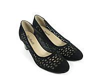 Туфли замшевые на каблуке весна