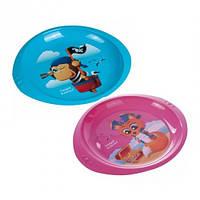Детская тарелка пластиковая Пираты