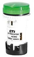 Лампа сигнальная LED матовая TT02T1 12V AC/DC (зеленая) 54мм, ETI, 4770738