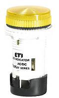 Лампа сигнальная LED матовая TT04U1 24V AC/DC (желтая) 54мм, ETI, 4770745