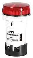 Лампа сигнальная LED матовая TT01X1 240V AC (красная) 54мм, ETI, 4770761