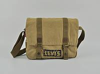 Мужская текстильная сумка Levi's через плечо LEVIS, песочная