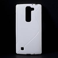 Чехол на LG Magna H502F накладка силиконовый S формы, Белый
