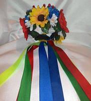 Украинские венки -обручи с цветами и лентами M888