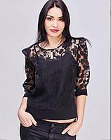 Красивая кокетливая блуза черного цвета