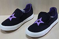 Слипоны кеды мокасины детские, спортивная текстильная обувь р.30,32