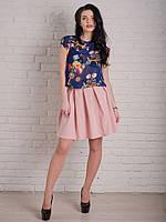 Женская юбочка со складочками пастельного цвета