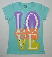 Турецкая трикотажная футболка для девочки 13-16 лет