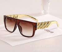 """Солнцезащитные очки унисекс """"Rap style"""" коричневая оправа"""