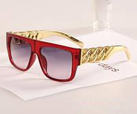 """Солнцезащитные очки унисекс """"Rap style"""" красная оправа"""
