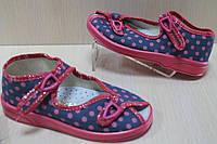 Польские тапочки на девочку, детская текстильная обувь тм Zetpol р.19,20,25,26,27