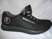Мужские кроссовки Jordan, сетка, черный.