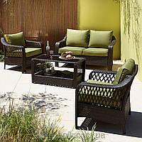 Набор садовой мебели  Sumatra 4 Piece Conversation Sofa Set in Olive Green