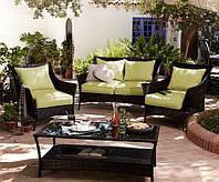 Набор садовой мебели George Home Jakarta Classic Conversation Sofa Set in Olive Green ― 4 Piece