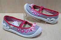 Польские тапочки на девочку, детская текстильная обувь тм 3 F р.26,31