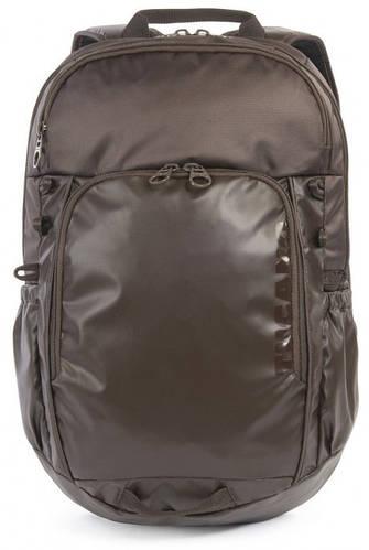 """Эффектный городской рюкзак 16 л. с отделением для ноутбука 15,6"""" Tucano BKTYU-M коричневый"""
