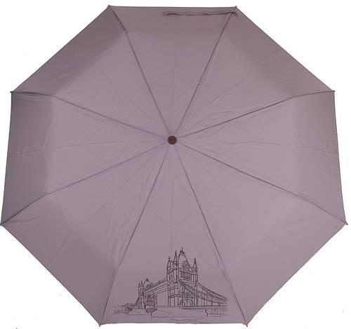 Женский практичный зонт, полуавтомат, антиветер AIRTON (АЭРТОН) Z3631-4197 серый