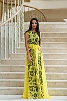Платье Вечернее в Пол Невероятной Красоты Желтое р. S M L XL