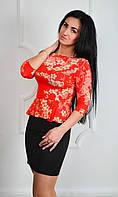 Оригинальное женское платье в красивый цветочный принт, фото 1