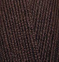 Ализе Ланаголд 800 100г/800м 26 темный коричневый