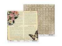 Бумага для скрапбукинга 180г/м2 30,5*30,5см двуст. Heritage 4 ТМ Rosa Talent