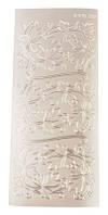 Наклейка 10*23см JEJE Декорации с листков, серебро