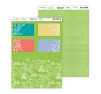 Бумага дизайнерская 21*29,7см 250г/м2 Нежность цветов 3 ТМ Rosa Talent