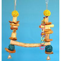 Деревянная качеля для Жако,Какаду,Амазона