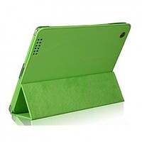 РАСПРОДАЖА! Кожаный защитный чехол для New iPad (зеленый)