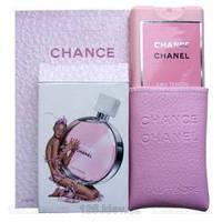 Мини парфюм в кожаном чехле 20мл Chanel Chance Eau Tendre