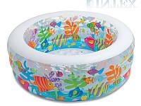 """Детский надувной бассейн манеж и батут """"Аквариум"""" Intex 58480"""