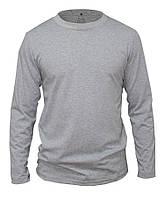 Лонгслив мужской (футболка с длинным рукавом), цвет - серый меланж.