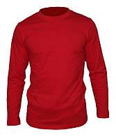 Лонгслив мужской (футболка с длинным рукавом), цвет - красный