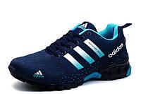 Кроссовки мужские Adidas Marathon TR 21, текстиль, синие с бирюзовым, фото 1