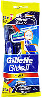 Станок для бритья одноразовый Gillette Blue2 Plus Blue3 5+1шт.