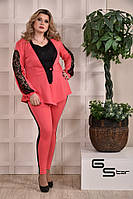 Женский костюм - тройка батал с 48 по 74 размер