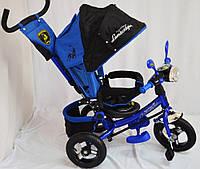 Трехколесный велосипед Lamborgini WS-610F AIR с фарой, синий