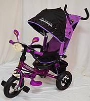 Трехколесный велосипед Lamborgini WS-610F AIR с фарой, фиолетовый