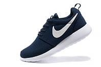 Женские кроссовки Nike Roshe Run blue 1