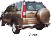 Защита заднего бампера Honda CRV 2002-2006