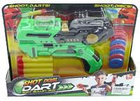 Игрушечный пистолет с присосками и дисками