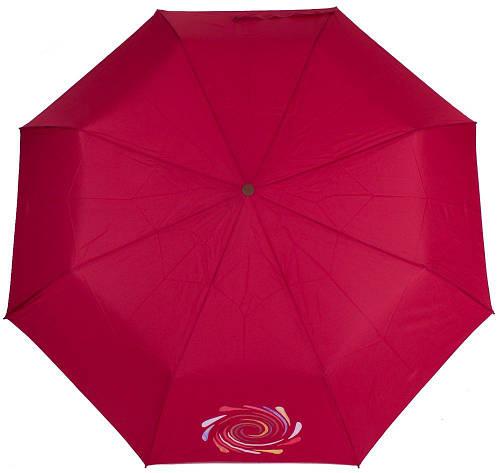 Эффектный женский полуавтоматический зонт,  антиветер AIRTON (АЭРТОН) Z3631-4181 красный