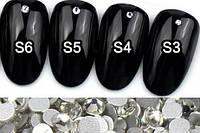Стразы для дизайна ногтей, аналог Сваровски прозрачные