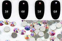 Стразы для дизайна ногтей хамелионы, аналог Сваровски